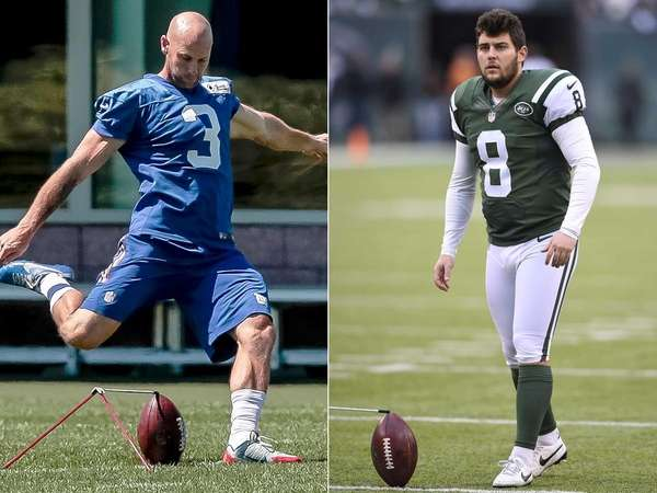 Josh Brown, left, and Randy Bullock will compete