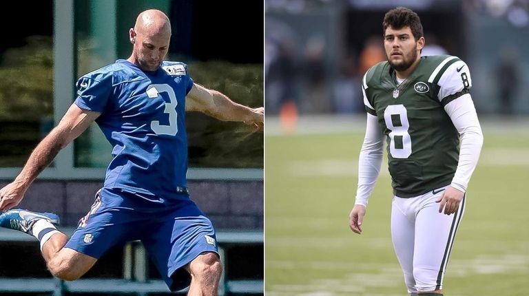 Josh Brown, left, and Randy Bullock will compete