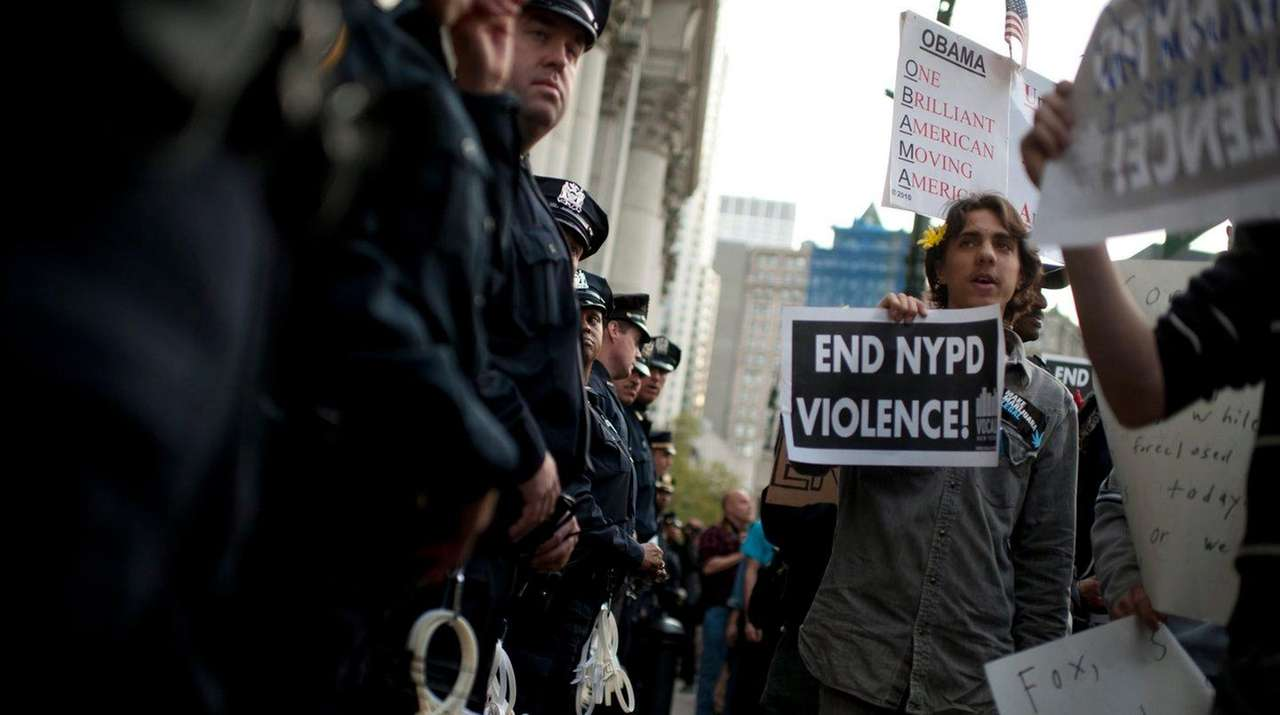 Demonstrators affiliated with the Occupy Wall Street