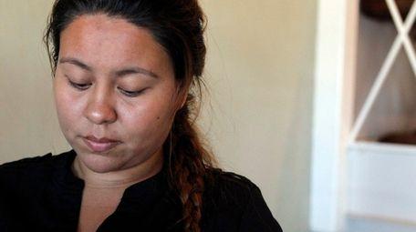 Ivonne Lugue, 22 of Westbury, the girlfriend of