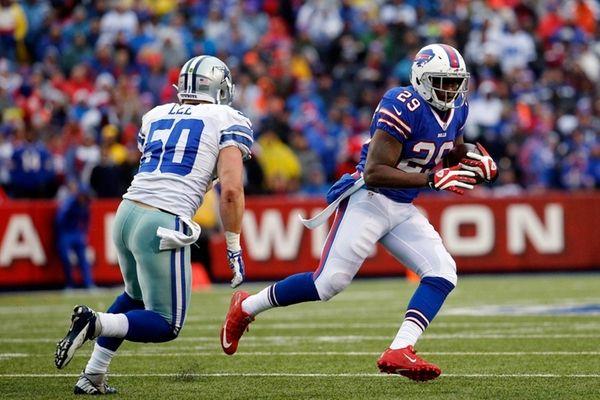 Buffalo Bills running back Karlos Williams is chased