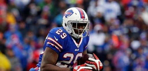 Buffalo Bills running back Karlos Williams is chased