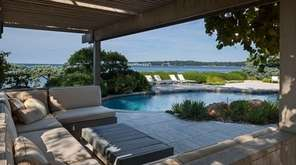 This secluded waterfront ranch in Sands Point has