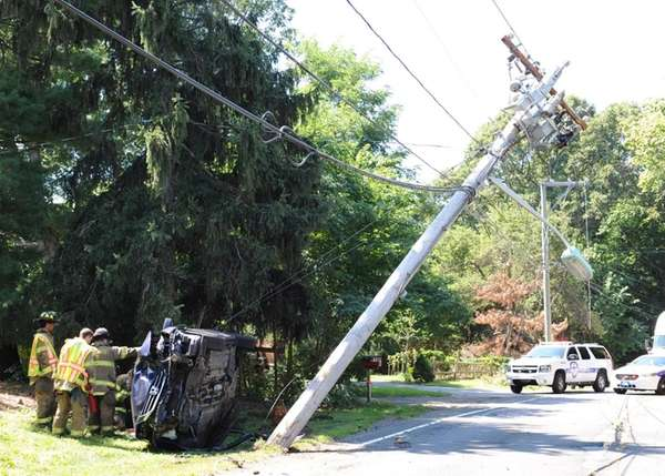Route 111 in Hauppauge was closed Wednesday, Aug.