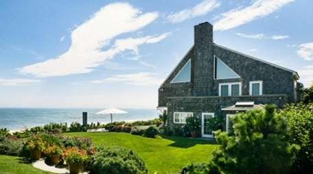 This East Hampton Village beachfront home, which includes