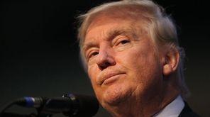 Republican presidential nominee Donald Trump has been scaling