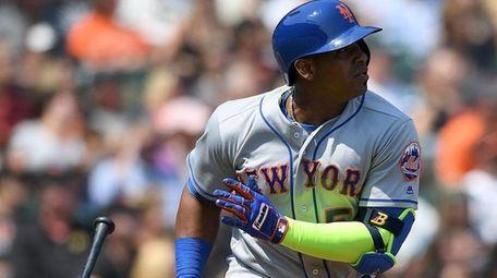 Yoenis Cespedes of the New York Mets