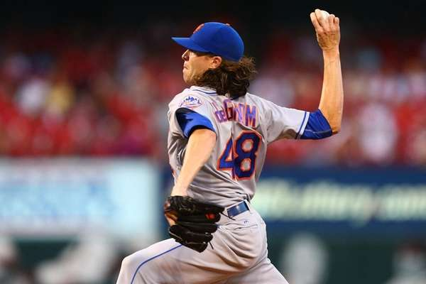 Jacob deGrom (7-7) gave up 12 hits and