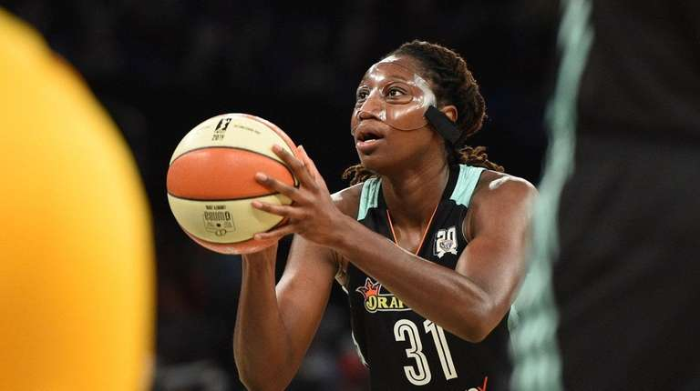 Tina Charles leads the WNBA in scoring and