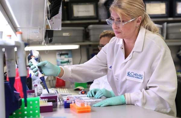 Alina Sikar-Gang, a senior scientist at Chembio Diagnostics