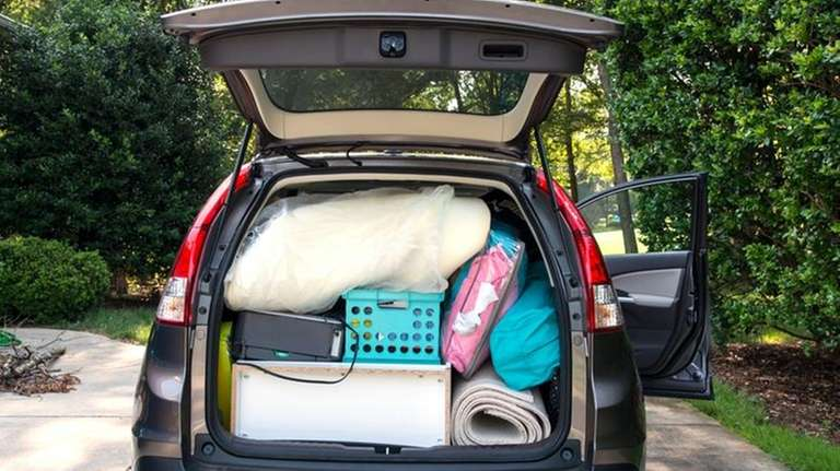 A car loaded for college move-in day.