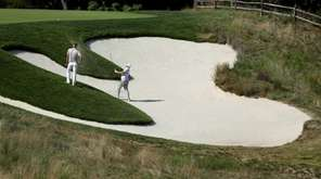 Robert Garrigus plays his second shot on the