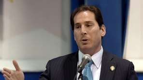 Todd Kaminsky addresses those in attendance after he