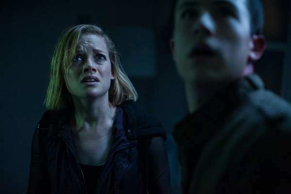 Jane Levy, left, and Dylan Minnette are robbers