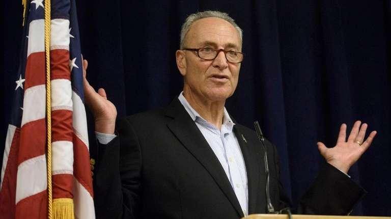 Sen. Chuck Schumer speaks at a news conference