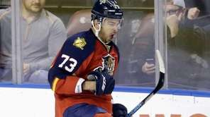 Florida Panthers center Brandon Pirri (73) celebrates after
