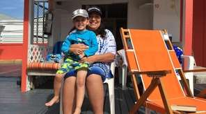 Gaile Taubenfeld and her grandson Eliezer enjoy Atlantic