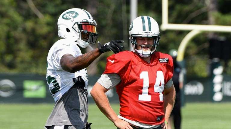 New York Jets wide receiver Brandon Marshall and