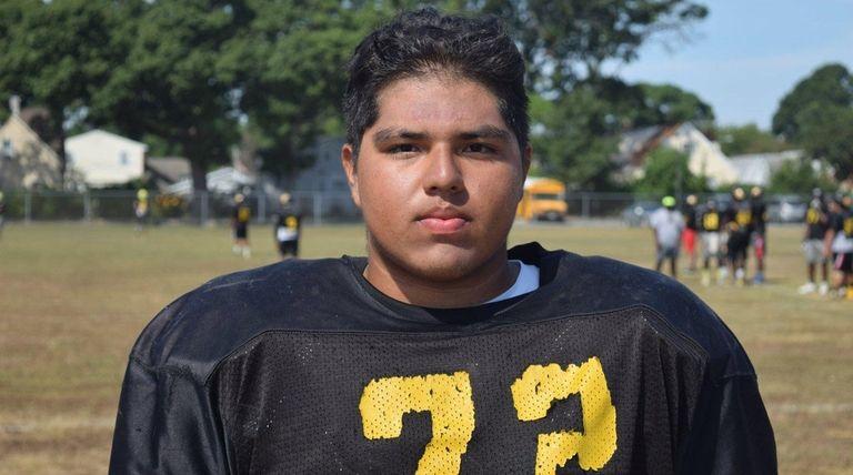 Uniondale football player Magin Saravia