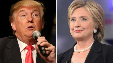 2016 presidential candidates Donald Trump and Hillary Clinton.