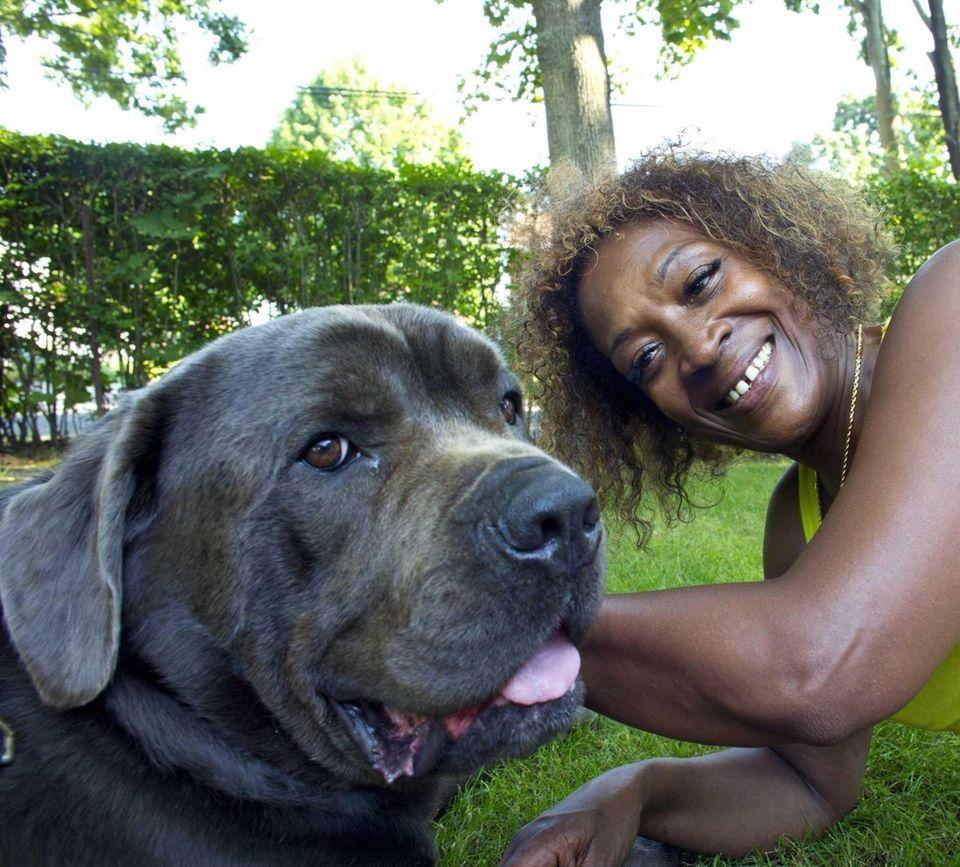 Carol Swinson credits her dog, Bear, with saving
