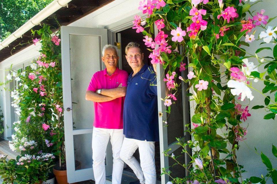Mark Badgley, left, and James Mischka were together