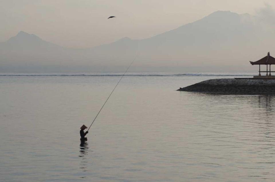 Sunrise fishing at Sanur Beach