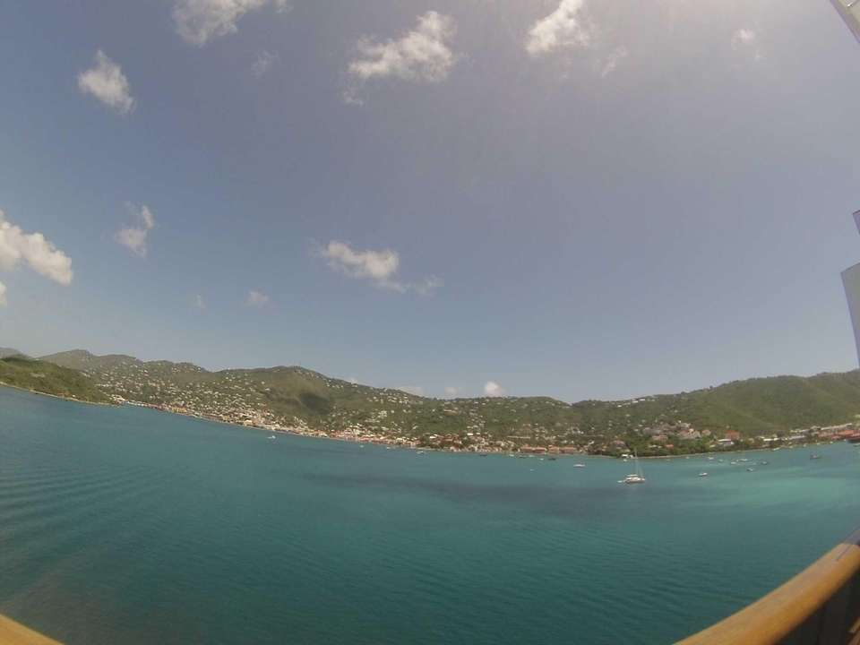 View from our balcony on Carnival Magic at