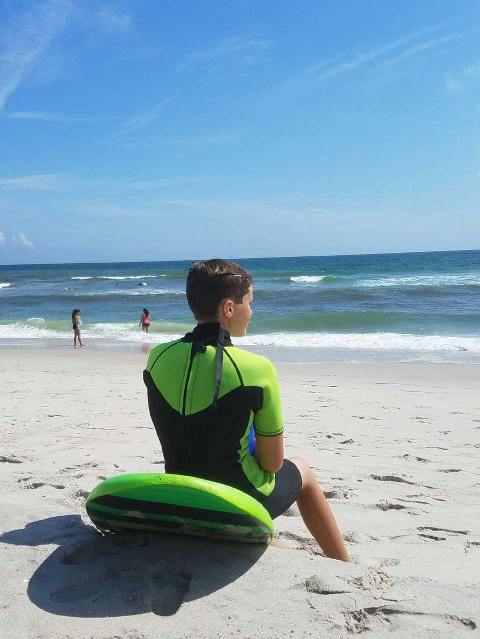 Peter Fiscina, 14 , Checking out the waves
