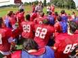 Smithtown East head coach Jon Woods speaks to