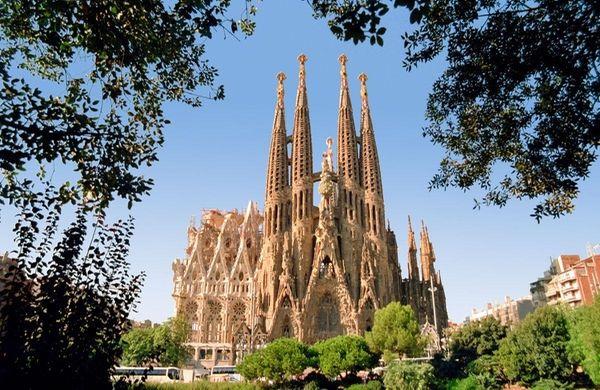Sagrada Familia, under construction since 1883, is the