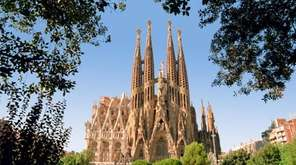 Sagrada Familia, under construction since 1883, is the