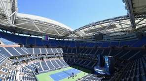 A view of center court at Arthur Ashe