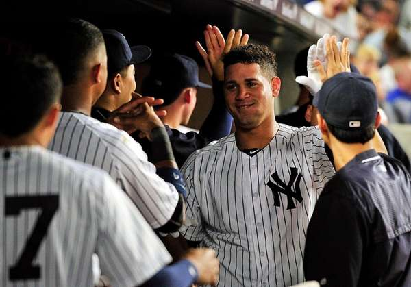 New York Yankees catcher Gary Sanchez (24) is