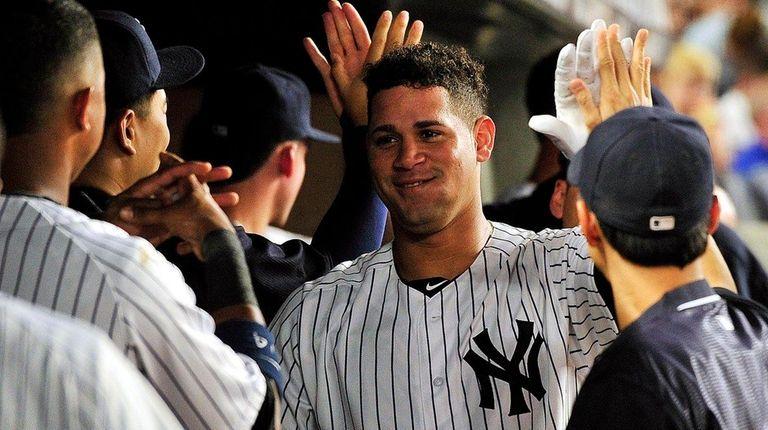 New York Yankees catcher Gary Sanchez (24) is