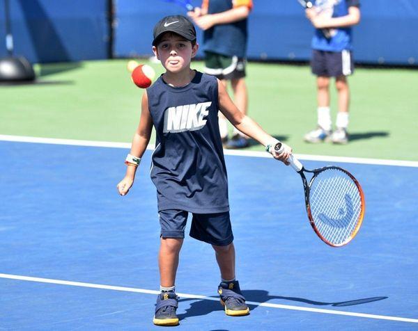 Daniel Ciccone, 6, of Manhasset, shows his focus