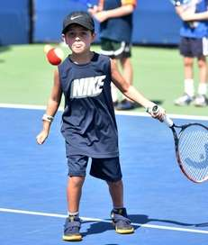 Daniel Ciccone, 6, of Manhasset, shows his focus