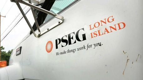 A PSEG Long Island truck on July 10,