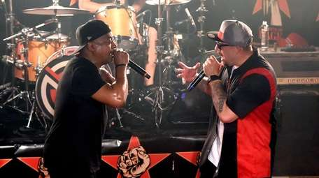 Chuck D, left, and B-Real of Prophets of