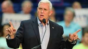 Republican vice presidential nominee Mike Pence says Donald