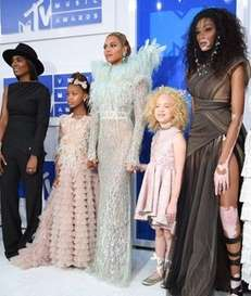 Beyonce, center, attends the 2016 MTV Video Music