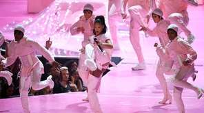 Rihanna performs during the 2016 MTV Video Music