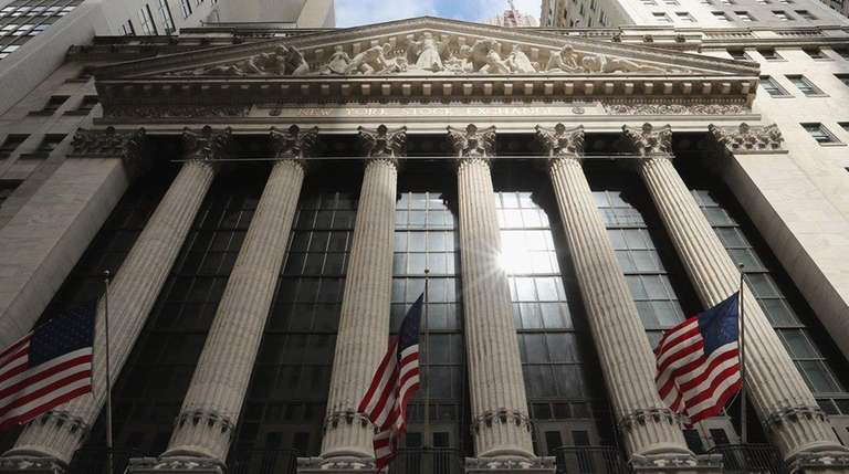 The New York Stock Exchange building on Aug.