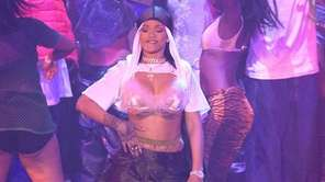 Rihanna performs onstage during the MTV Video Music