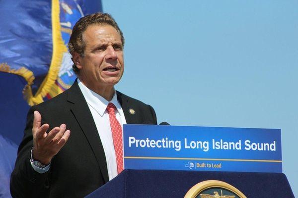 New York Gov. Andrew Cuomo speaks at an