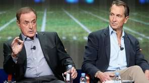 Play-by-play announcer Al Michaels and analyst Cris Collinsworth