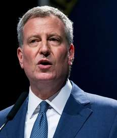 Mayor Bill de Blasio during his State of