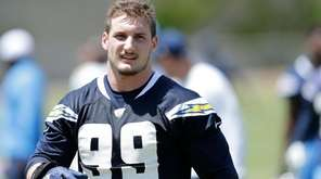 San Diego Chargers defensive end Joey Bosa trains