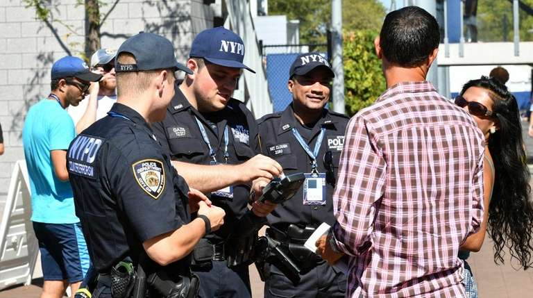 Members of an NYPD counter-terrorism team, part of