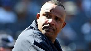 New York Yankees starting pitcher CC Sabathia looks